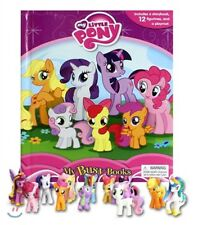 NEW My Little Pony Busy Book + 12 Character Figurines & Playmat Play Book