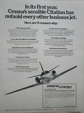 5/1973 PUB CESSNA AIRCRAFT AVION CITATION SERIES 500 PARIS AIR SHOW ORIGINAL AD