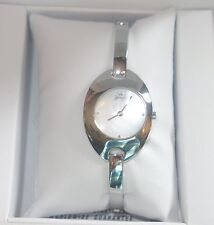 Yonger and Bresson Oval white dial PVD Steel silver Bracelet Watch DMN 1500 new