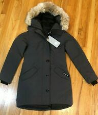 NEW CANADA GOOSE ROSSCLAIR PARKA COAT WOMEN GRAPHITE 2580L COYOTE DOWN FREE SHIP