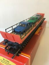 Hornby Railways R.124 Car Transporter with 3 Cars .Pre -Owned