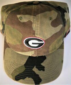 GEORGIA UGA BULLDOGS ADULT ADJUSTABLE CAMOUFLAGE CAMO CAP HAT WITH OVAL G LOGO