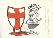 Jacovitti- Illustrazione a due colori- vignetta datata1975