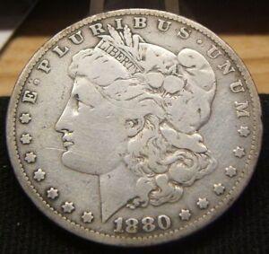 1880-O  MORGAN  SILVER DOLLAR~~VF   #2
