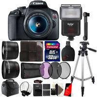 Canon EOS Rebel T7 DSLR Camera + 18-55mm Lens + 58mm Accessory Kit