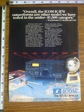 1986 ad page - ICOM IC-R70 / IC-4AT / IC3AT Radio Transceiver ADVERTISING #17