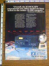 1986 ad page - ICOM IC-R70 / IC-4AT / IC3AT Radio Transceiver ADVERTISING #17