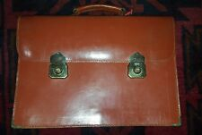 VINTAGE BROWN LEATHER EXPANDING BRIEFCASE 42CMW X 30CMH EXC VINTAGE  CONDITION