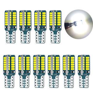 10x T10 Car Bulbs LED Wedge W5W 501 48 SMD Light Bulb Interior Error Free CANBUS