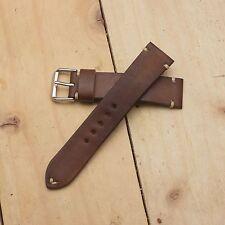 22 mm/20 mm Handmade Genuine Vegtan Leather Watch Band/Strap (Free Ship)