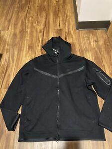 Nike Sportswear Tech Fleece Full-Zip Hoodie CU4489-010 Black Men's Size XL