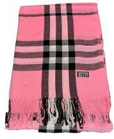 New Pashmina Scarf Shawl Veil  Pink Quality Wrap Woman Men Plaid Accessory