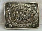 VTG Shriners SILVER Overlay 1988 Wyoming Rodeo TROPHY BELT BUCKLE