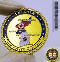 Military VETERAN 1950-1953 KOREAN Challenge Coin Collectible US Gold