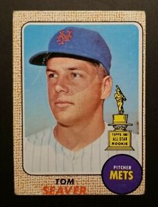 1968 Tom Seaver #45 All Star Rookie Cup (Good) First Solo Card