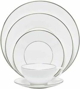 Wedgwood Jasper Conran Platinum 5 Piece Place-Setting Dinnerware 50161609033 New
