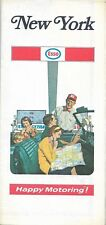 1971 ESSO HUMBLE OIL Road Map NEW YORK Long Island Albany Buffalo Rochester