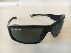 Edge Brazeau Black Frame Polarized Smoke Lens Safety / Sun Glasses TXB216-A1