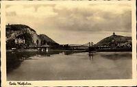 Porta Westfalica AK 1941 Weserbrücke Weser Kaiser Wilhelm Denkmal Bismarckturm