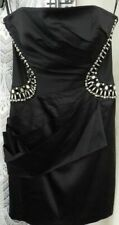 ( Ref 2359 ) Jane Norman - Size 14 - Ladies Black Strapless Beaded Formal Dress