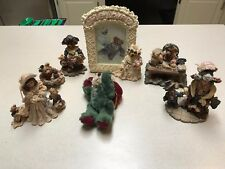 Lot of 5 Boyds Bears & Friends Figurines - Boyds Bears Picture Frame & Ornament