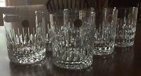 Lot 6 MANHATTAN GLASS 8oz Echt Bleikristall Germany LEAD Crystal MINT CONDITION