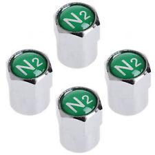 N2 PNEUMATICO azoto Ruota in Lega Valvola Polvere Tappo Di Copertura + NITRO Seal-Cromato 12MM x 4