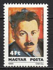 Hungary - 1986 Béla Kun (politician) - Mi. 3811 MNH
