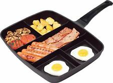 5 in 1 Grill Frying Pan Breakfast Multipan Non-Stick Skillet Induction Hob