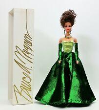 Ooak Bruce A. Nygren Barbie Doll Green Dress Brunette Hair