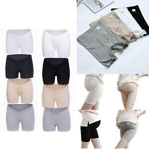 Women Security Shorts Pregnancy Underwear Casual Pure Color Cotton Lace Pants