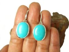 Tibetan  TURQUOISE   Sterling  Silver  925  Gemstone  Earrings