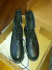 Wolverine Men 10 R ANSI Leather Black Steel Toe Military Safety Boots new in box
