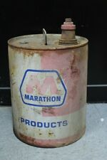 Vintage Marathon Products 'Gear Compound' Motor Oil Gas 5 Gallon Can