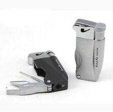 Windproof Butane Flame Gas Refillable Smoking Cigarette Cigar Lighter For Pipe