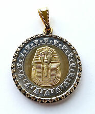 3 Egyptian Coin Pendants - King Tut, Queen Cleopatra, Egyptian Pyramids