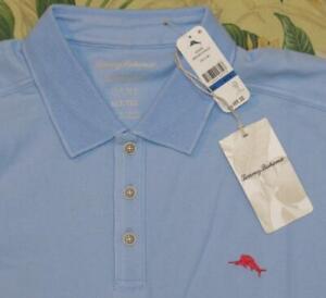 TOMMY BAHAMA Blue Emfielder Short Sleeve Polo Shirt XLT NWT