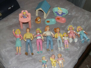 Fisher Price Loving Family Doll House People dog  cat Lot 19 pc