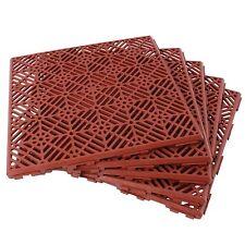 Pack of 5 Plastic Garden Tiles (Weatherproof Non-Slip Path, Walkway or Patio)