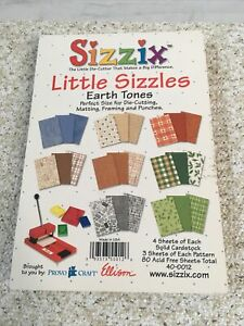 Sizzix Little Sizzles Earth Tones Solid Cardstock 80 Acid Free Sheets
