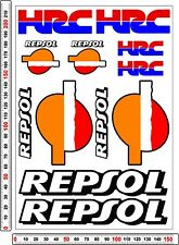 HRC HONDA REPSOL RACING sticker decals set - fireblade cbr track