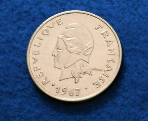 1967 French Polynesian 20 Francs - Super Coin - Low Mint - See PICS