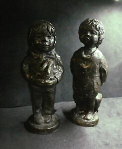 Antique Sculptures signed unresearched unusual..signed