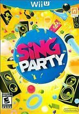 SING PARTY Nintendo Wii U Game - Microphone Included