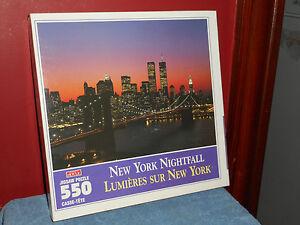 New HOYLE Jigsaw PUZZLE New York Nightfall 550 Pieces Lumieres Sur New York