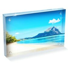 "Ile aux Benitiers Photo Block 6 x 4"" - Desk Art Office Gift #12568"