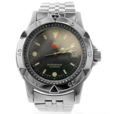 TAG HEUER 1500 SERIES WD1211-K-21 CHARCOAL DIAL 200M STAINLESS STEEL MENS WATCH