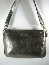 Fossil MEMOIR Leather Gold Handbag Shouder Bag Purse BZB5459710 Retail $118