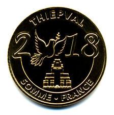 80 THIEPVAL Mémorial 4, Somme-France 2018, La colombe, Monnaie de Paris