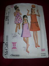 1962 McCALL'S #7262-GIRLS ( 3 STYLE ) SUMMER SUNDRESS w/POCKETS & BELT PATTERN 8